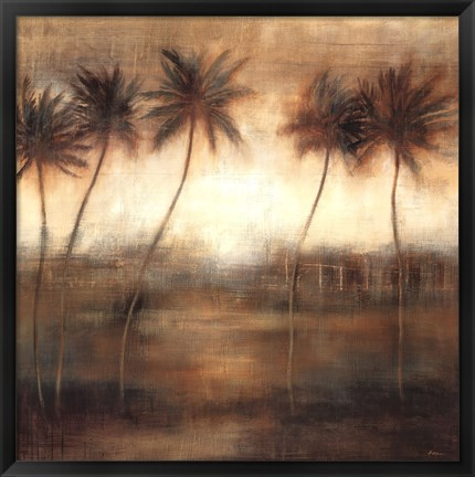 Framed Five Palms Print