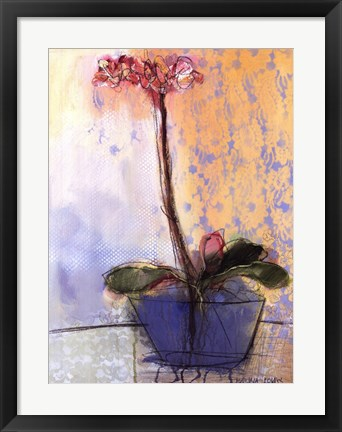 Framed Orchid and Lace II Print
