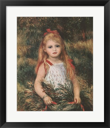 Framed Girl with a Sheaf of Corn Print