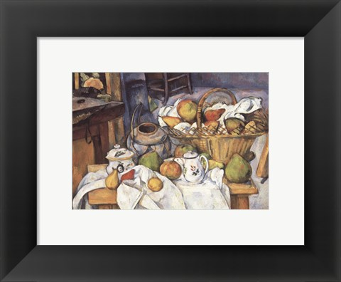 Framed Still Life with Fruit Basket Print
