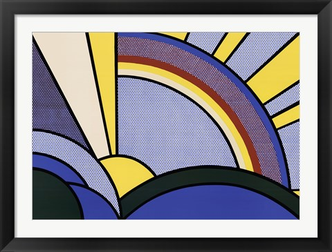 Framed Modern Painting of Sun Rays Print