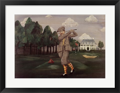 Framed Teeing Off Print