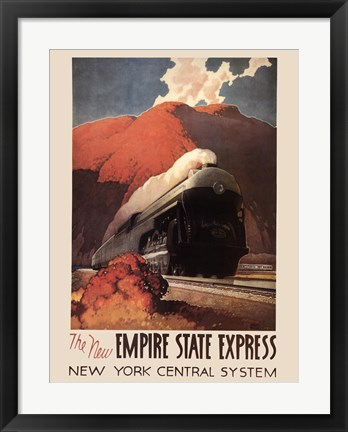 Framed Empire State Express Print