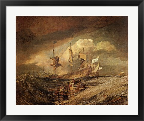 Framed Boats with Anchors Print