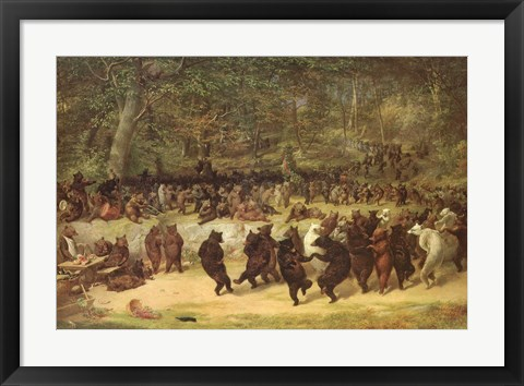 Framed Bear Dance, c.1870 Print