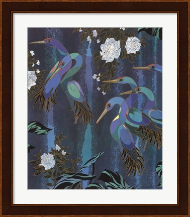 Framed Cranes in Paradise II Print