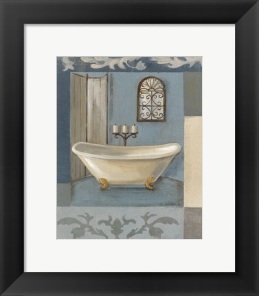 Framed Antique Bath I Print