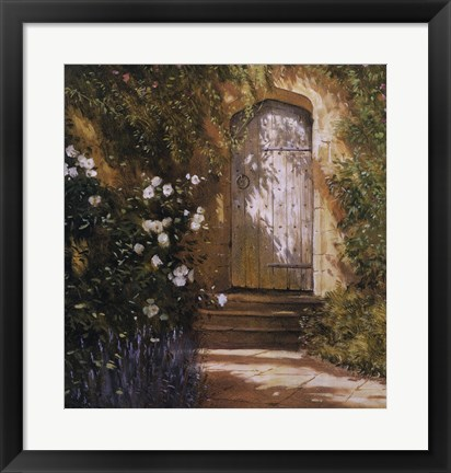 Framed Garden Door, Broughton Castle Print