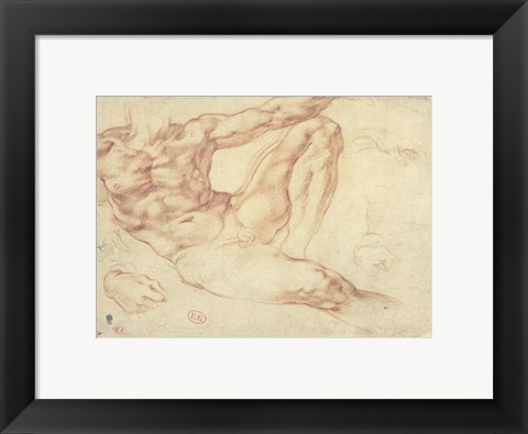 Framed Male Nude Print