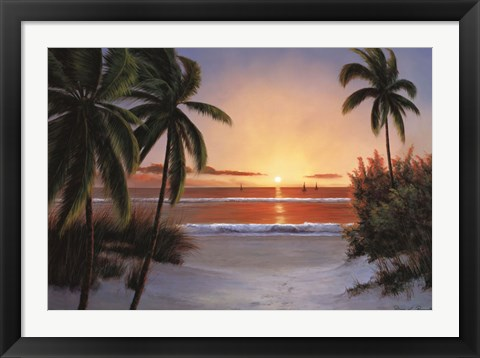 Framed Sunset Sail Print