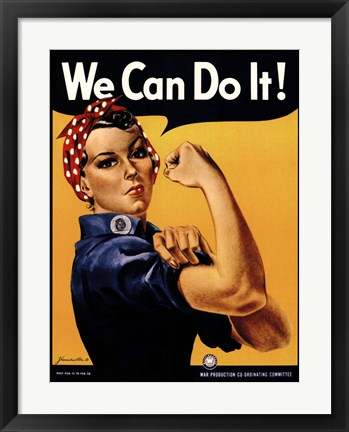 Framed We Can Do It! Print