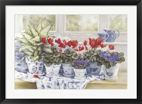 Framed Windowsill Garden Print