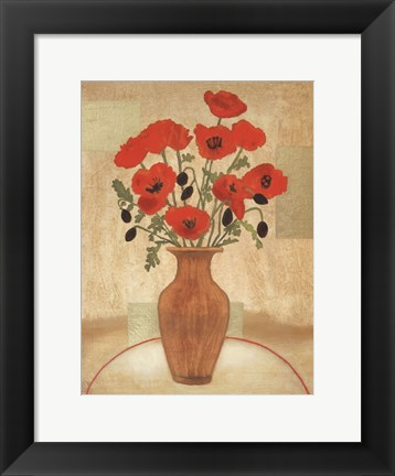 Framed Crimson Poppies Print