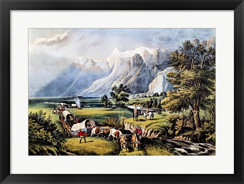 Framed Rocky Mountains Print