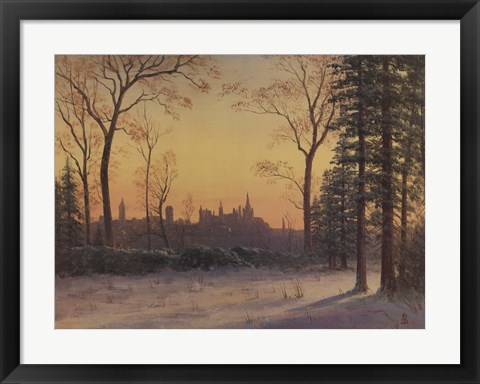 Framed View of the Parliament Buildings from the Grounds of Rideau Hall Print