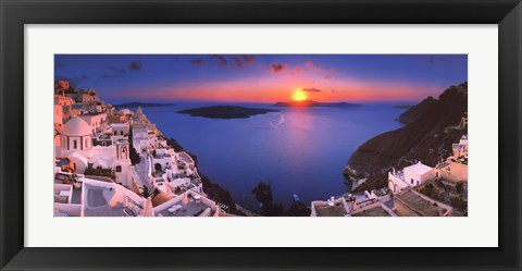 Framed Sunset in the Mediterranean Print
