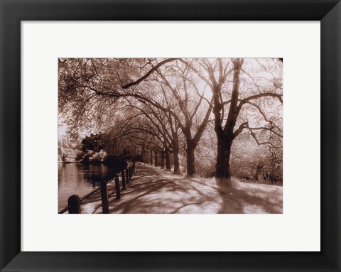Framed Hampstead Ponds, London Print