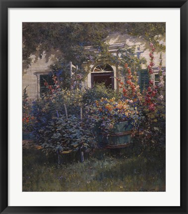 Framed Kennebunkport Doorway Print