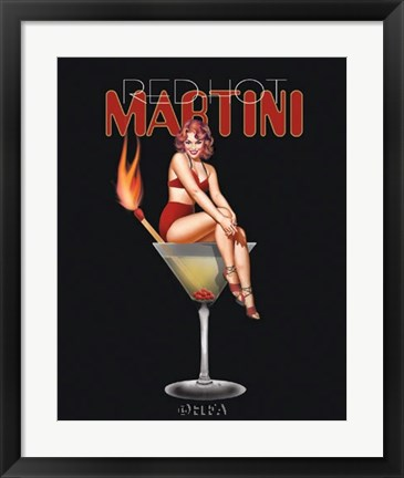 Framed Red Hot Martini Print