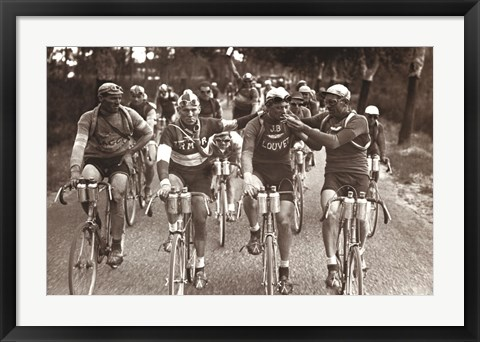 Framed Smokers - An Intimate Portrait of The Tour de France Print