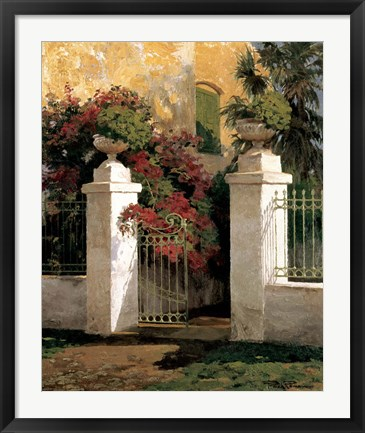 Framed Jardi Colonial Print