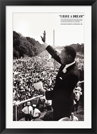 Framed King: I Have a Dream Print