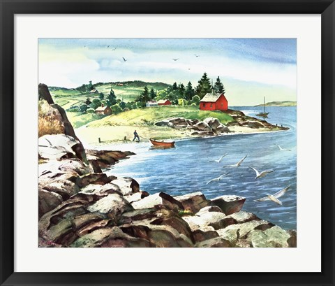 Framed Inland Cove Print