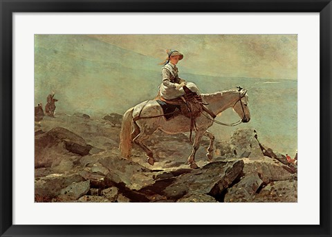 Framed Bridle Path White Mountains Print