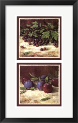 Framed Blackberry Plum Combo Print