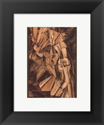 Framed Nude Descending a Staircase #2 Print