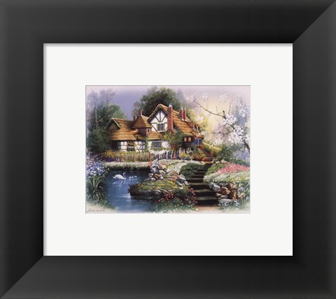 Framed Coutnry Cottages Print