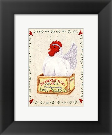 Framed Jones Miller Rooster Print
