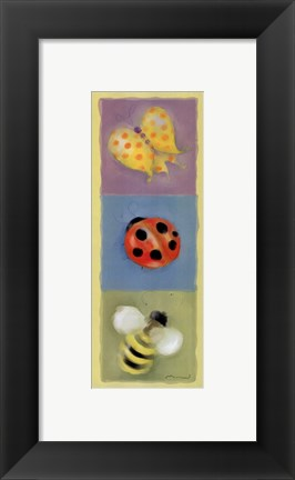 Framed Butterfly Lady Bee Panel Print