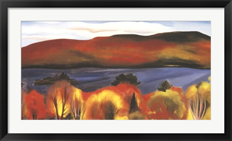 Framed Lake George, Autumn, 1927 Print