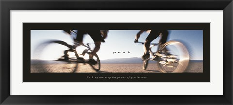 Framed Push-Bicycles Print