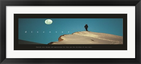 Framed Discover-Moon Print