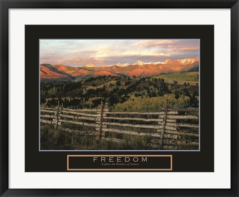 Framed Freedom - Explore the Wonders of Nature Print