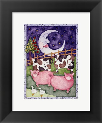 Framed Old Macdonald Pigs Print