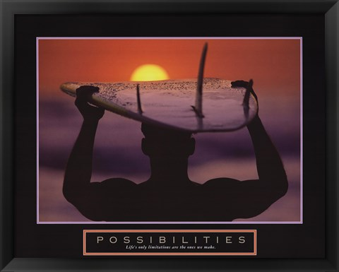 Framed Possibilities - Surfer Print