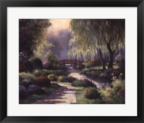 Framed Path To Willow Park Print