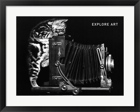 Framed Explore Art Print