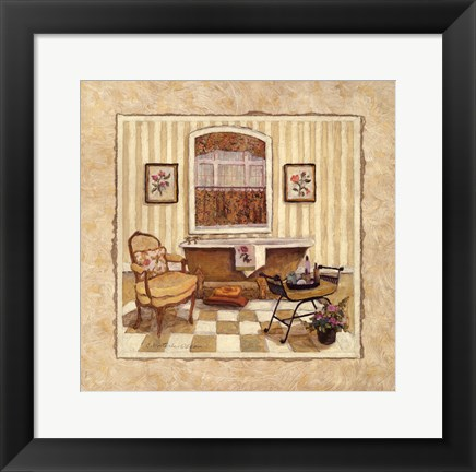 Framed Romantic Bath III Print