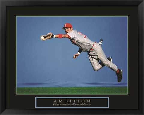Framed Ambition - Baseball Player Print