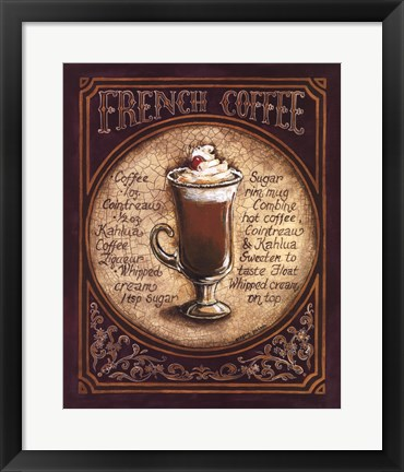 Framed French Coffee Print