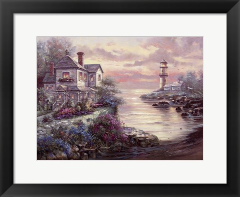 Framed Lighthouse Point Print