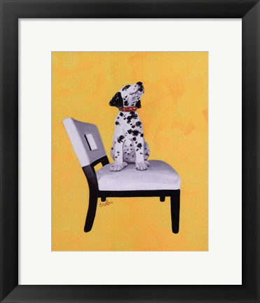Framed Riley The Dalmatian Puppy Print