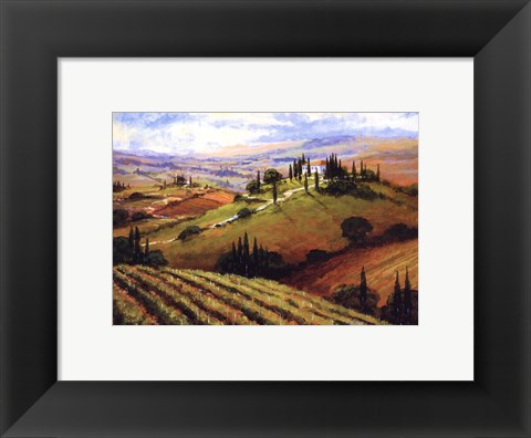 Framed Tuscan Afternoon Print