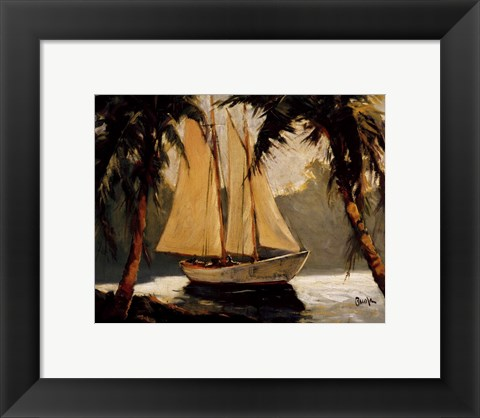 Framed Sailboat, Santa Barbara Print
