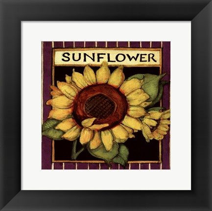 Framed Sunflower Seed Packet Print