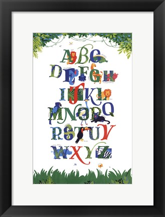 Framed Safari Alphabet Print
